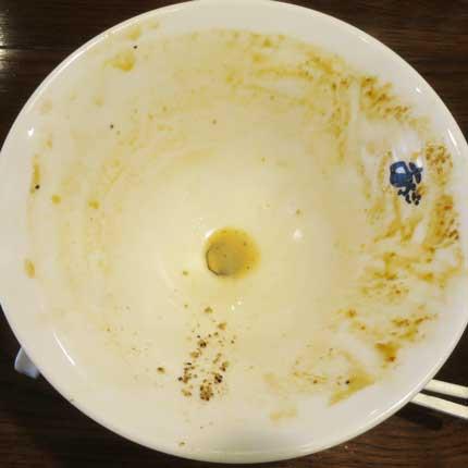 化学調味料無しのスープを全部堪能