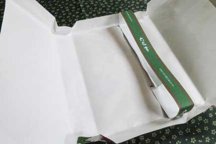 六花亭のお菓子詰め合わせの包装