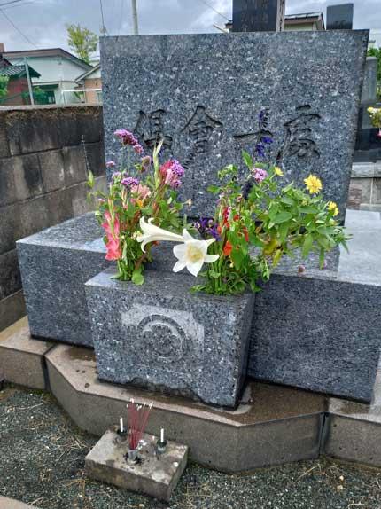 妻の家の墓参り