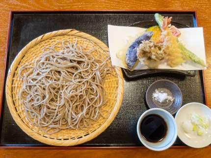 天ざる蕎麦1400円税込