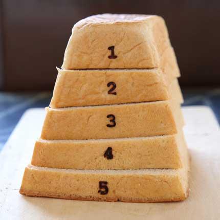 跳び箱の形をした食パン