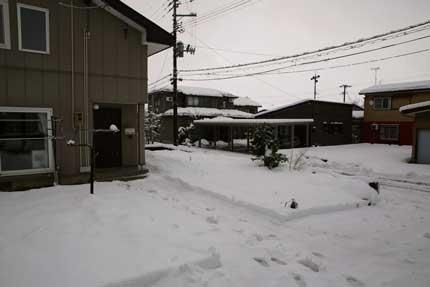 20cm程の積雪