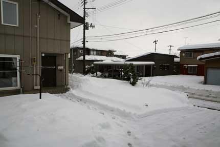 40cm程の積雪