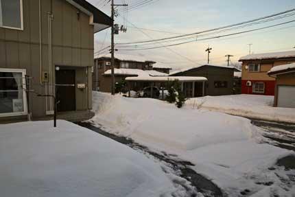 45cm程の積雪