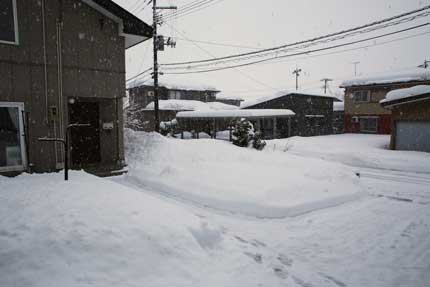 50cmほどの積雪