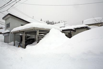 カーポート、小屋、事務所の雪下ろしを終えました