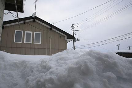 1月13日(水)上越市大貫の雪