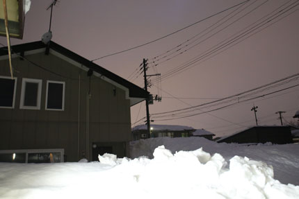1月14日(木)上越市大貫の雪