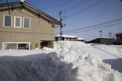 1月15日(金)上越市大貫の雪