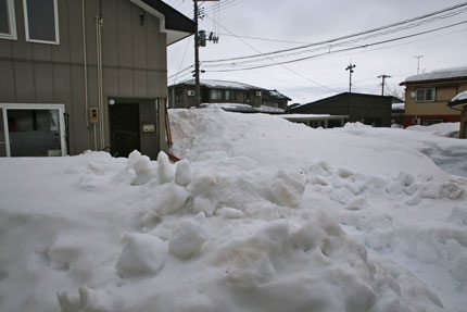 1月24日(日)、上越市大貫の雪