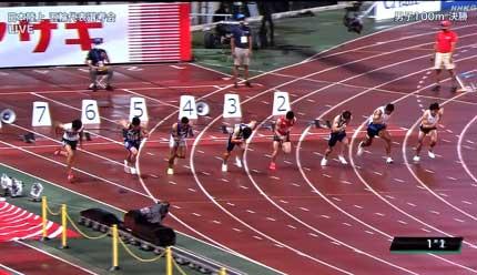 日本陸上男子100m決勝