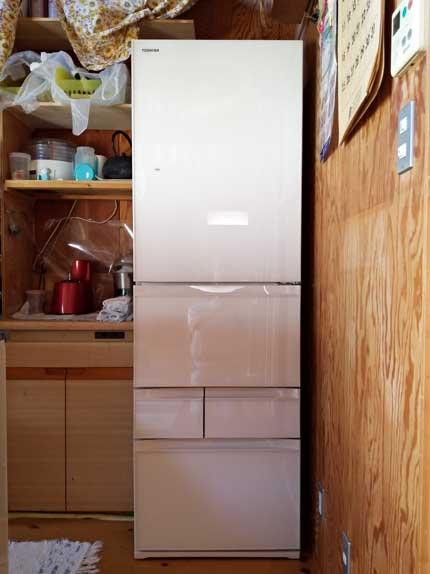 新しい冷蔵庫は、411L