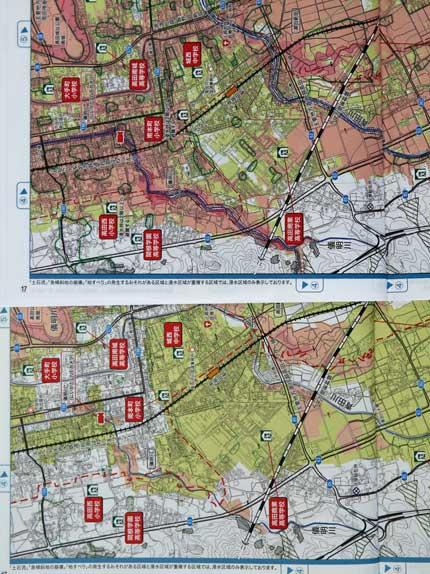 令和3年8月版の方が赤や黄緑に彩られた地域が広がっています
