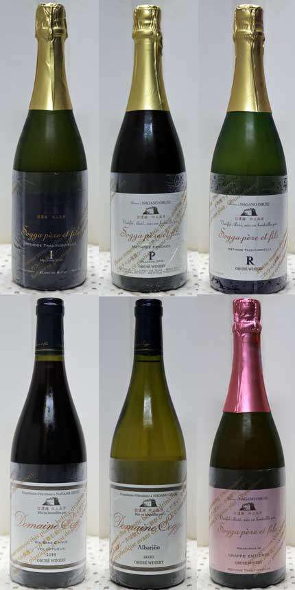 6本のワイン