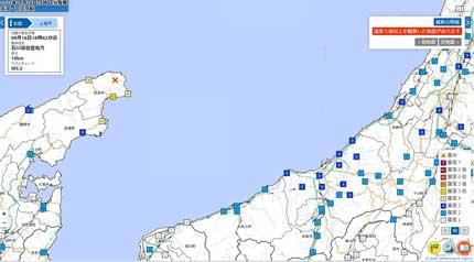 石川県能登地方でマグニチュード5.1の地震