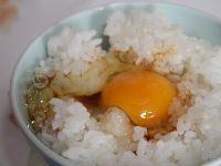 平飼い卵をご飯に