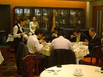 中国飯店の昼食