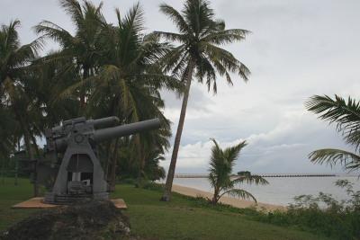 戦争について考える大砲