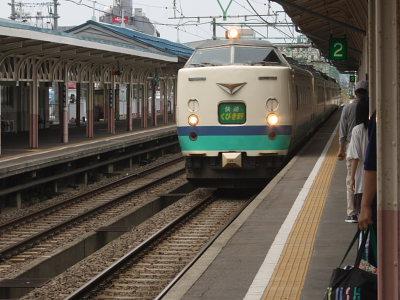 長岡への電車