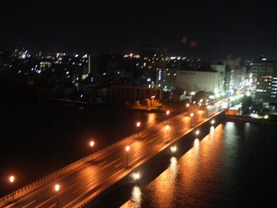 ホテルオークラ新潟からの夜景