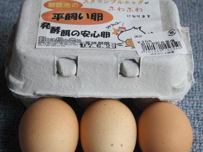 朝日池総合農場さんの平飼い卵
