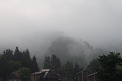 高柳荻ノ島地区の靄