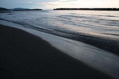 日没後の海